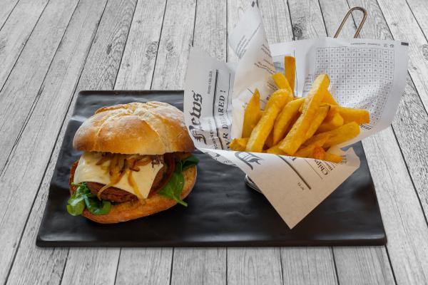 Hamburguesa Vegana con queso