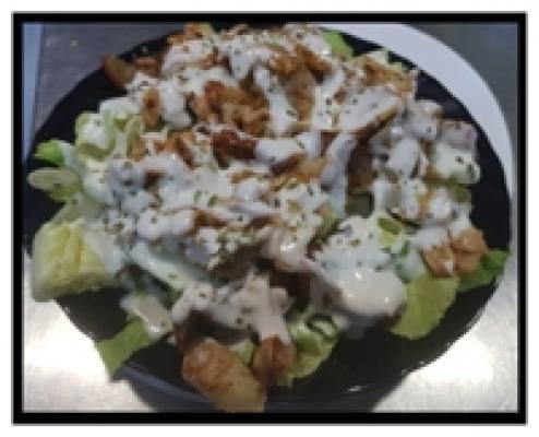 Ensalada de kebab de pollo