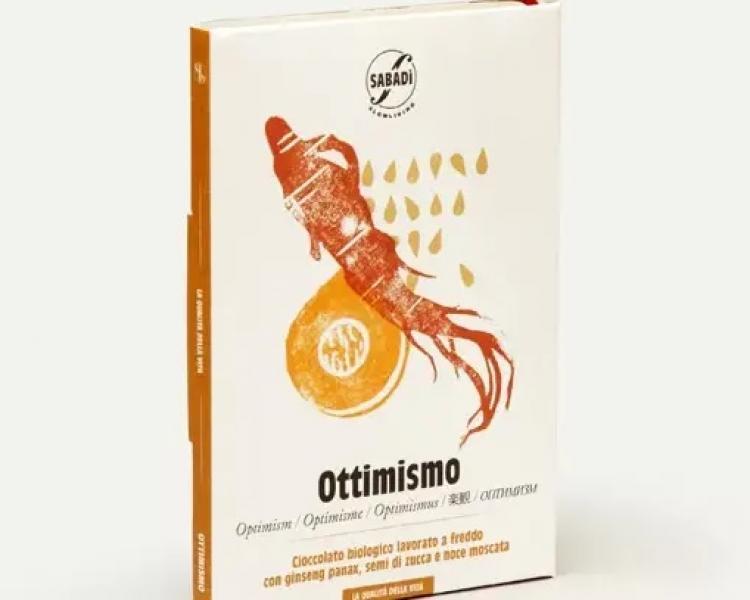 OTTIMISMO – Cioccolato biologico con semi di zucca, Ginseng Panax e noce moscata
