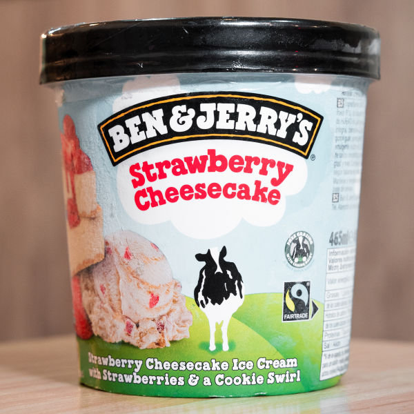 Helado Ben & Jerry's Strawberry Cheesecake (465ml)