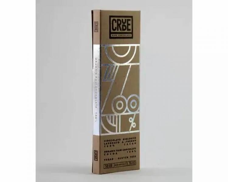 Cioccolato Crudo senza zucchero BIO – fondente 100% – CRUDE 100