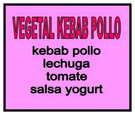 Vegetal kebab pollo grande