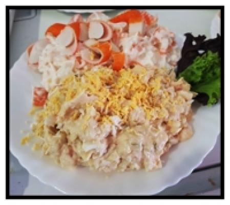 Mix de ensaladilla Rusa y marisco