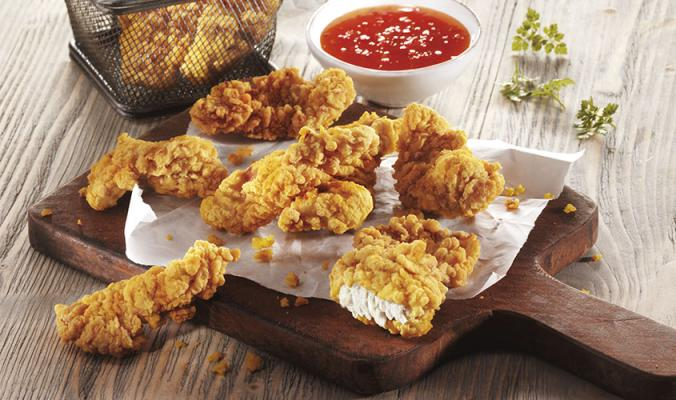 129. Delicias de pollo (Kentucky)