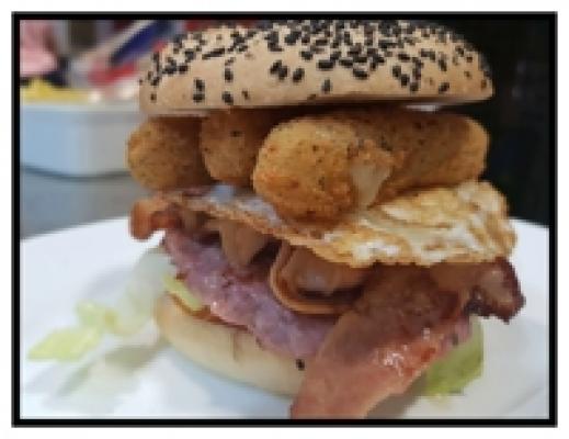 Burger mozarella