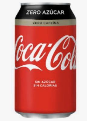 Lata Cocacola Zero Zero
