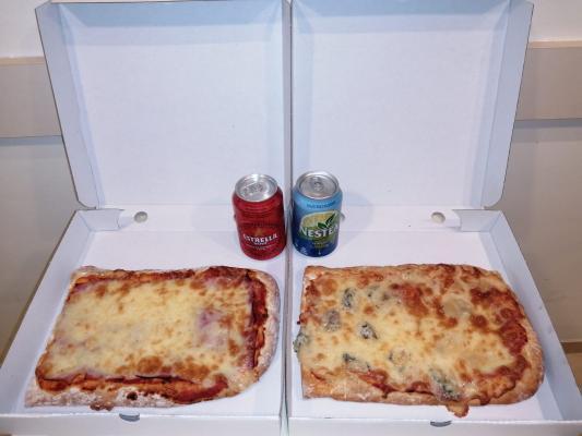 2 Pizzas Enteras + 2 bebidas de REGALO