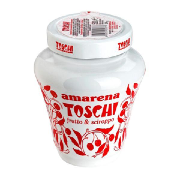Tarro de porcelana de 500gr de cerezas amarenas Toschi