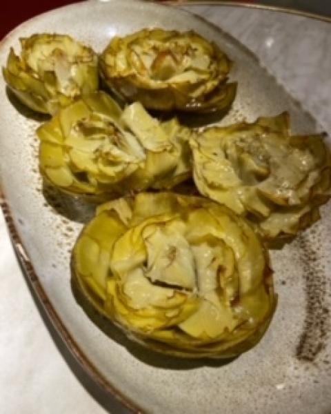 Alcachofas confitadas con aceite de oliva ( Sin gluten )