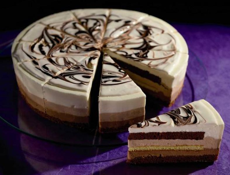 Tarta de tres chocolate