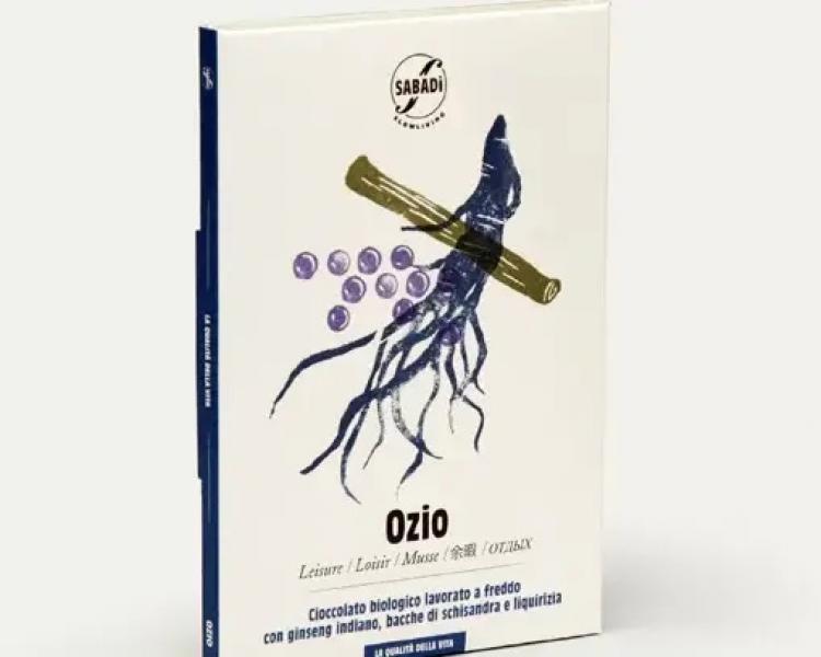 OZIO – Cioccolato biologico con liquirizia , ginseng Indiano e bacche di schisandra